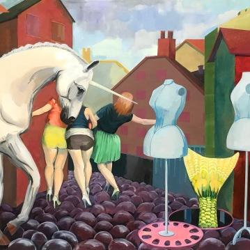 Eva Lucija Kozak_Samorog-Unicorn_2017_160x140cm_m